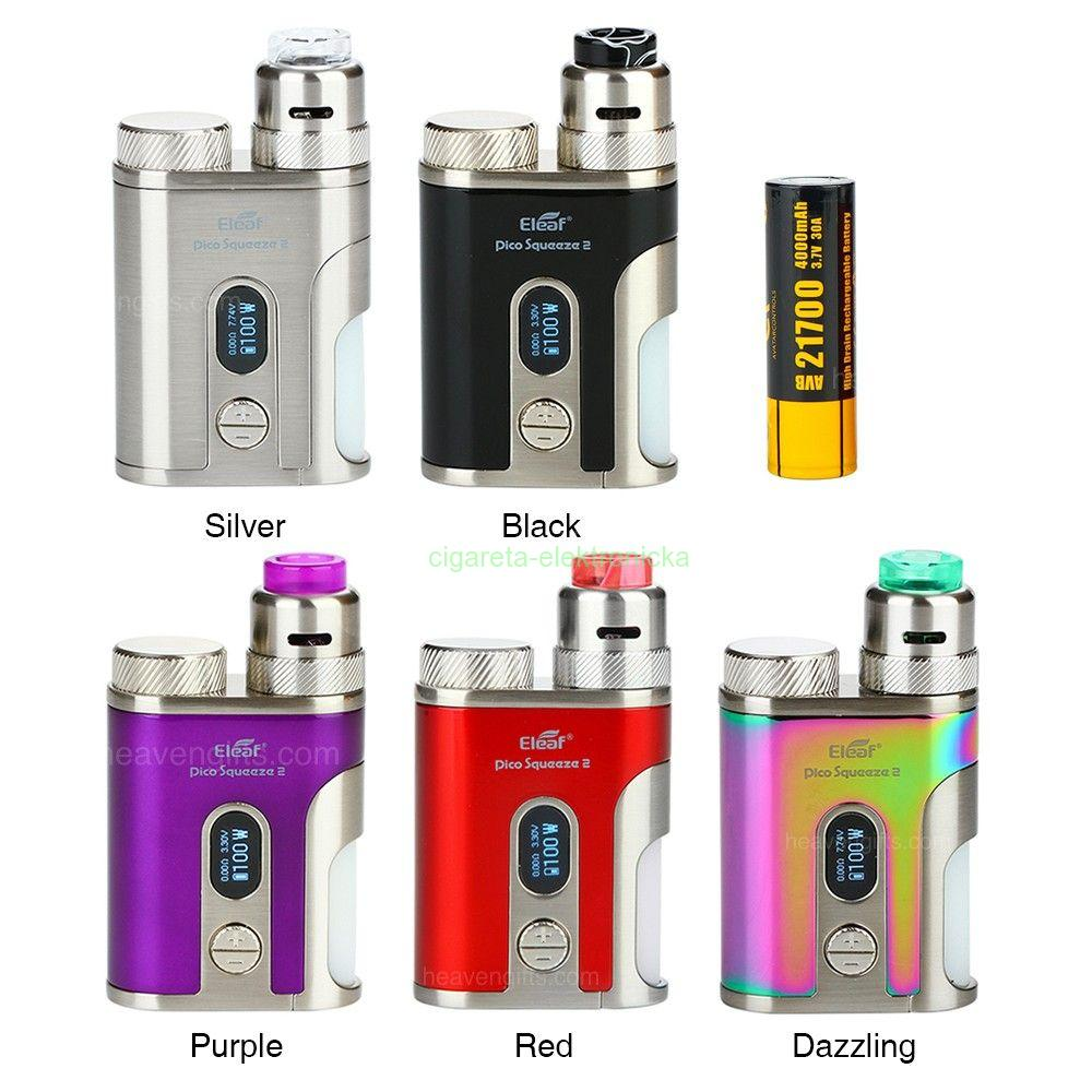 Dazzling - Eleaf iStick Pico Squeeze 2 100W Squonk Kit + Coral 2 RDA 4000mAh